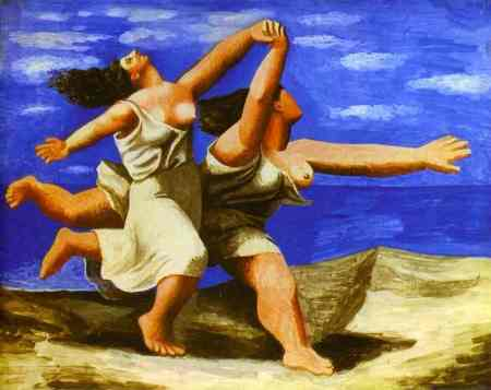 Women Running on Beach Pablo Picasso