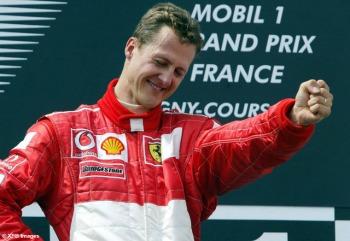 F1 in Frankreich, Podium am Sonntag, Formel 1 Grand Prix (GP) von Frankreich 2002 (France, Nevers Magny - Cours)